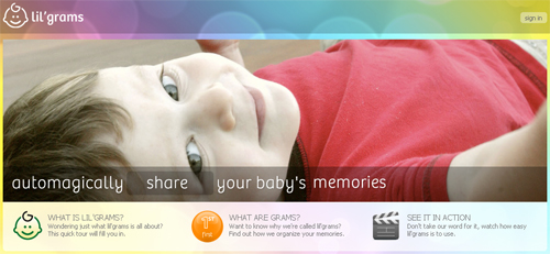 Lil' Grams - Automagically share your baby's memories