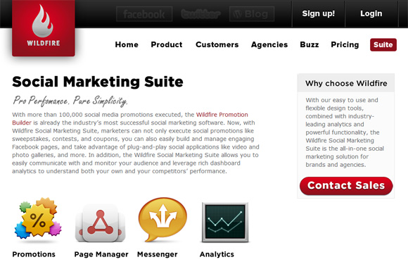 Wildfire Interactive Social Marketing Suite