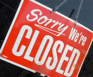 Closed for business (by Kara Salame/flickr)