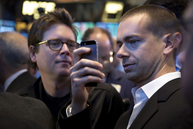 Jack Dorsey at Twitter's IPO on the NYSE. Does he have enough in him to do lead another company to the public market?