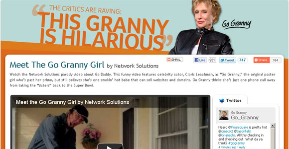 """Network Solutions """"GoGranny"""" website"""
